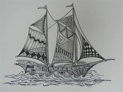 doodlebug boat zentangle boats sailboats zentangle sailboats