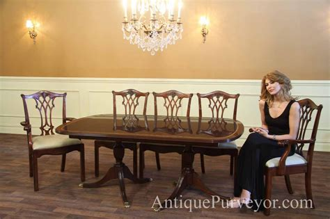 Formal Dining Room Sets For 10 New Formal American Made Double Pedestal Dining Table With