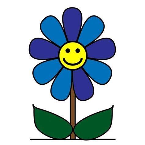 disegni di fiori a colori disegno di fiore con sorriso a colori per bambini