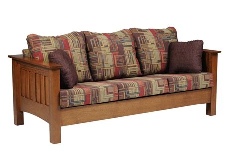mission sleeper sofa mission style sofa sleeper amish mission prairie sofa bed