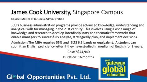Cook Mba Singapore by Study The Mba In Singapore Without Gmat