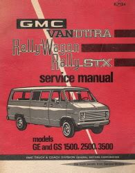 free online auto service manuals 1992 gmc rally wagon 3500 engine control 1971 gmc vandura rally wagon rally stx factory service manual