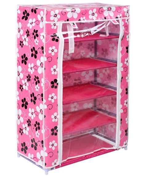 Cloth Book Shelf by Buy 5 Layer Foldable Multi Storage Shoe Stand Organiser Cloth Shelf Book Rack In India