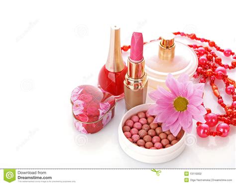 Flower Based Cosmetic Preparations by Cosmetics With Flower Stock Photography Image