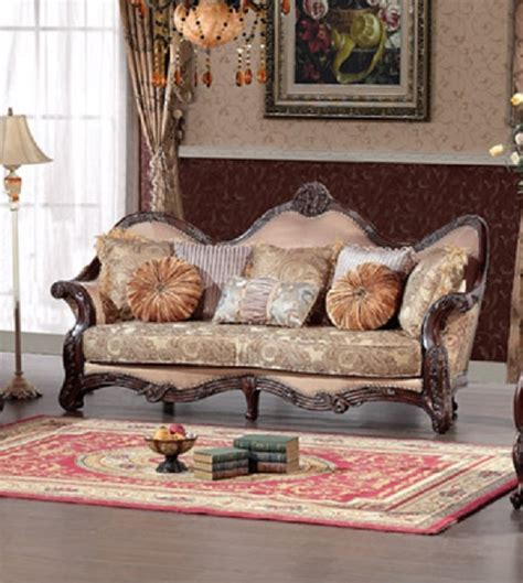 wood trim fabric sofas best furniture 389 wood trim peach blossom fabric sofa