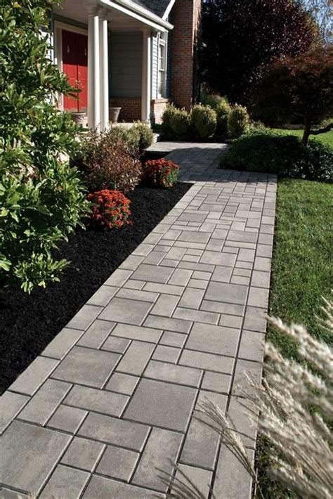 create a beautiful entrance with a paver walkway using ep