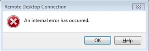 errore interno server fix an error has occurred windows remote desktop