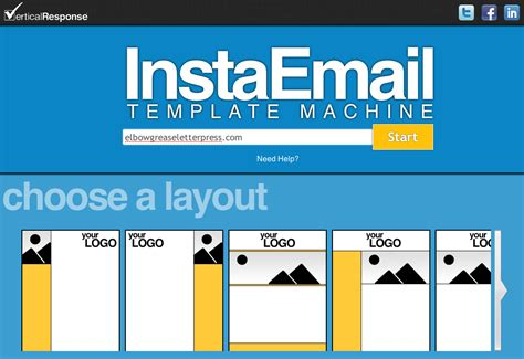Verticalresponse Launches Free Instaemail Email Template Creation Tool Verticalresponse Custom Email Marketing Templates