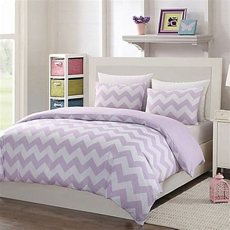 purple chevron bedding buy lala bash paulie chevron 3 piece reversible full