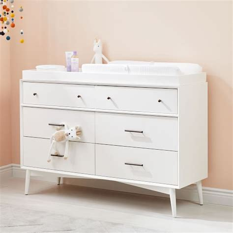 mid century changing table mid century 6 drawer changing table white elm