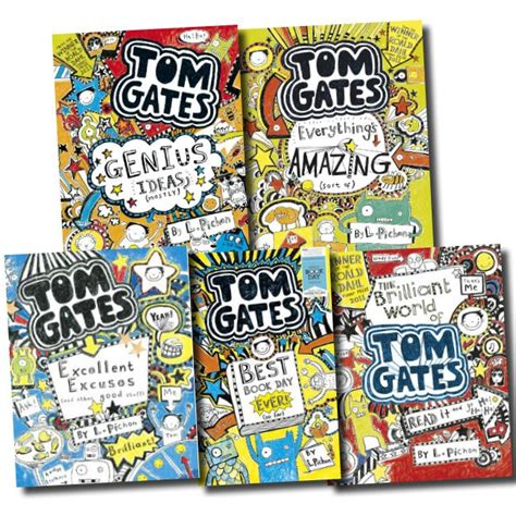 1407124404 tom gates excellent excuses and tom gates collection liz pichon 5 books set pack genius