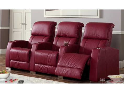 home theater loveseat recliners palliser hifi hts powered reclining home theater sectional