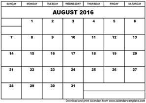 Printable Calendar Blank Month Printable Month Calendar Blank Calendar Template 2016