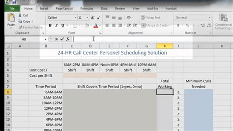 call center plan template call center staffing and cost reduction using excel