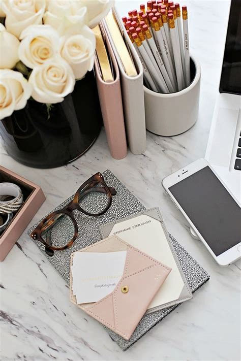 Pretty Office Desk Accessories Inspiring Feminine Home Office Decor Ideas For Your