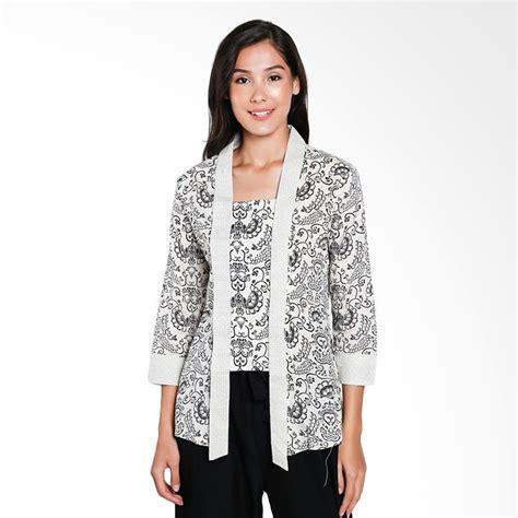Sabrina Hitam Blouse Wanita jual batik adikusuma 372138067 gurda blouse batik wanita hitam harga kualitas