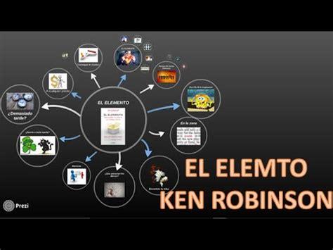 libro el elemento the element el elemento ken robison mapa mental youtube
