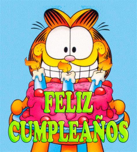 imagenes cumpleaños garfield postales de cumplea 241 os con tartas ツ tarjetas de feliz