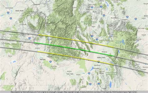 map of oregon eclipse eclipse maps national eclipse august 21 2017 total