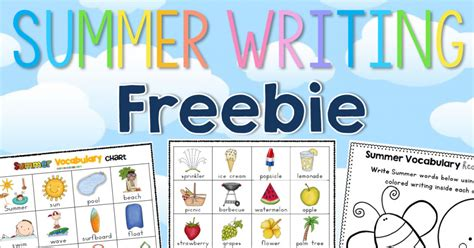 summer blog writing away with blog 12 ways to use a free vocabulary chart clever