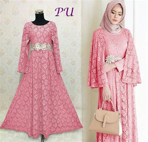 Baju Muslim Brokat Simple baju gaun pesta ratih brokat model gamis modern