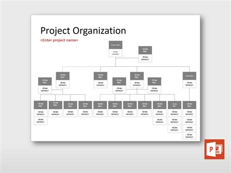 templates for organization large project organization chart project templates guru