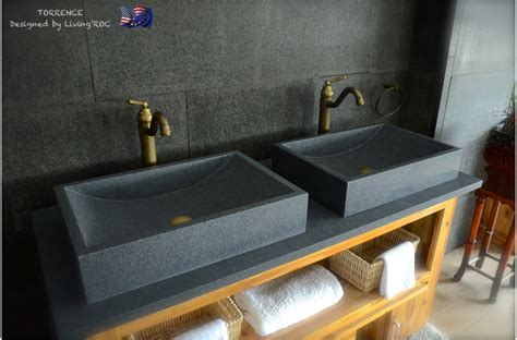 600mm grey granite bathroom basin sink torrence