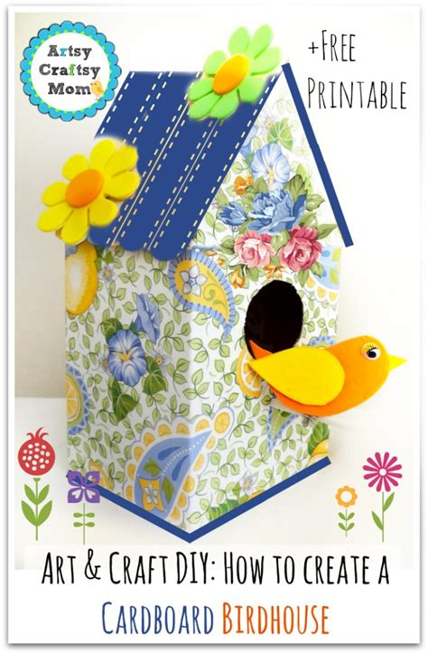 birdhouse template for cards how to make a decorative cardboard bird house artsy