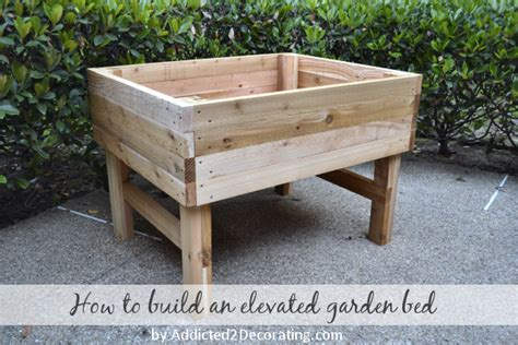 how to build an elevated garden bed elevated garden bed www addicted2deco