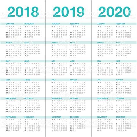 Calendrier E 2019 Vecteur De Calendrier De Lann 233 E 2018 2019 2020 Cliparts