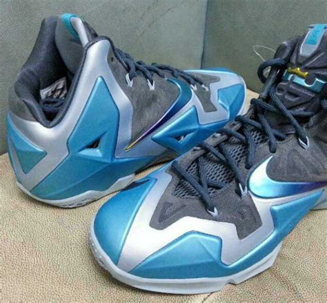 Light Blue 11 by Nike Lebron Xi 11 Gamma Blue Images Collective Kicks