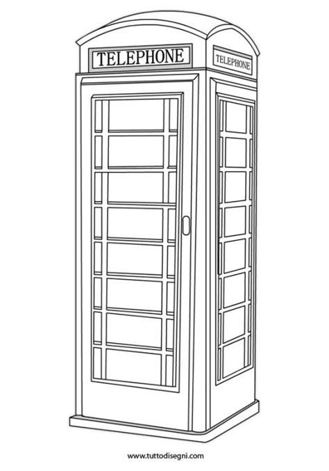 cabina telefono inglese inglese tuttodisegni