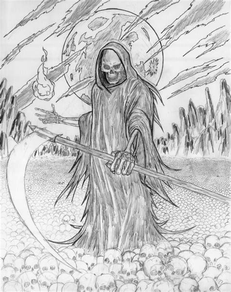 Grim Reaper Coloring Pages grim reaper coloring sheets grim reaper wip coloring