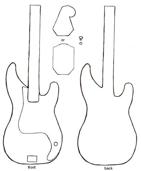 Bass Guitar Templates by Luana Alves Artesanato Em Bau Guitar Muito