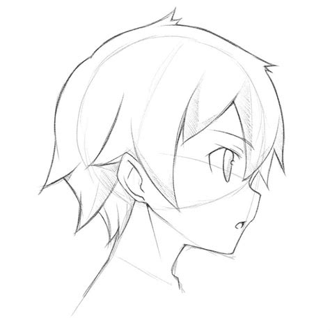 anime hairstyles for guys side view anime face side view tutorial c mangaacademy anime amino