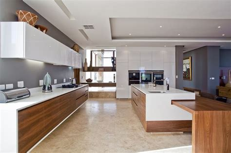 modern timber kitchen the chestnuts 11 white timber black and concrete