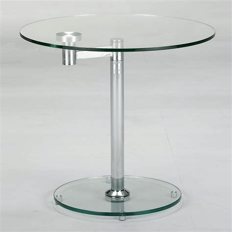 round accent table with glass top chintaly imports 8090 lt rotating round glass top end