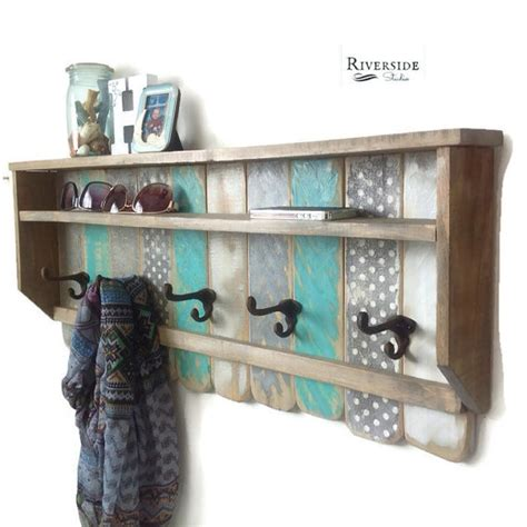 Entryway Shelf Decor Entryway Wood Shelf Rustic Pallet Coat Rack By