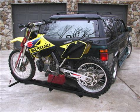 Dirtbike Rack by Dirt Bike Motorcycle Carrier Trailer Hauler Hitch Rack