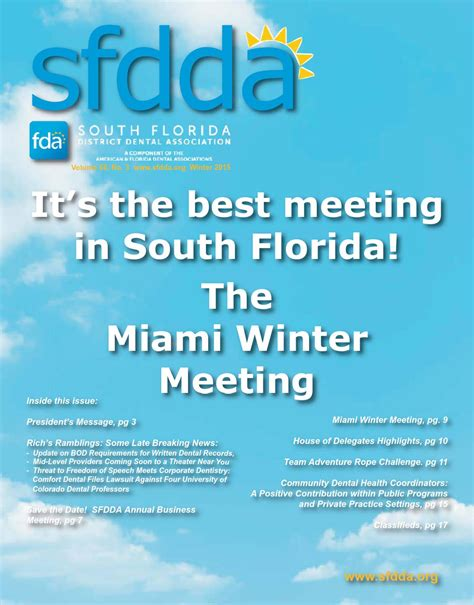comfort dental lawsuit winter issue 2014 15 by south florida district dental