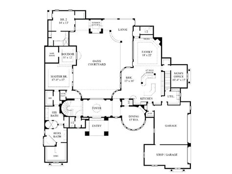 mediterranean floor plans with courtyard entry single story mediterranean house plans courtyard style home with colonial