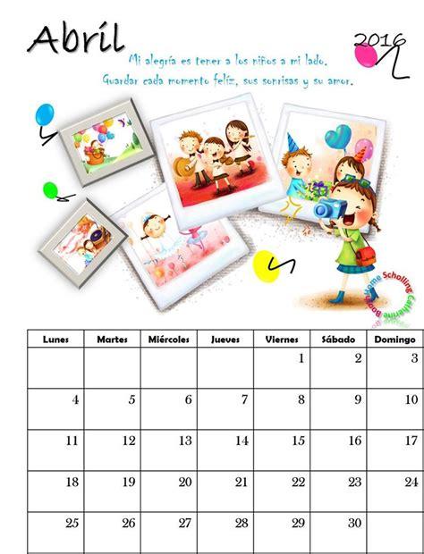 Calendario De La Escuela Calendario 2016 4 Imagenes Educativas
