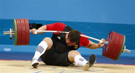 Barbel Sport 2012 German Weightlifter Ok After Barbell
