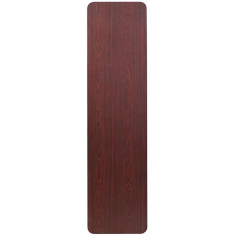 Folding Laminated Paper - 18 x 72 rectangular mahogany melamine laminate folding
