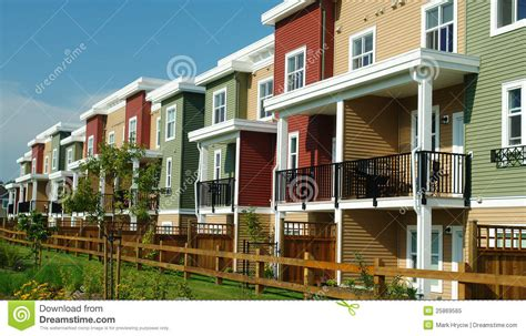 free houses new colourful homes row houses stock image image 25869565
