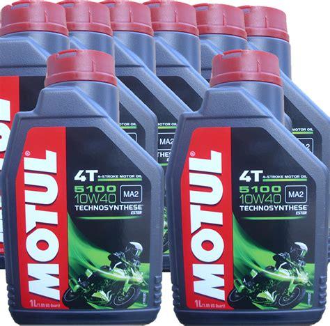 Motul 5100 Technosynthese Ester 10w40 1 Liter 100 Originale 8 x 1 liter motul 10w 40 5100 ma2 4t motoroel100