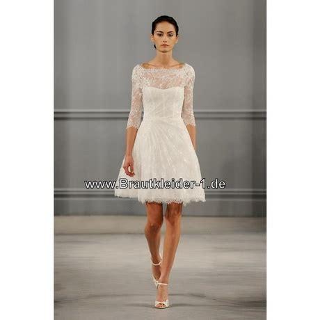 Hochzeitskleid Kurz Langarm by Spitzen Brautkleid Kurz