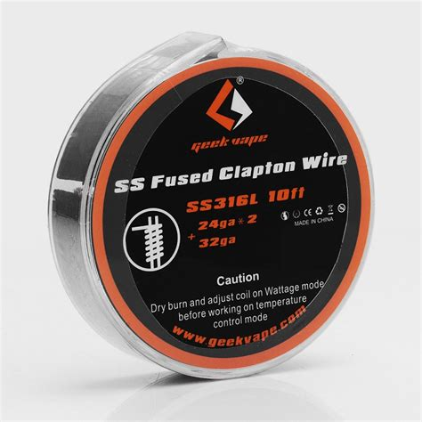 Wire Ss Ss316l 24 Geekvape Coil Vapor Vape authentic geekvape ss316l 3m clapton heating wire