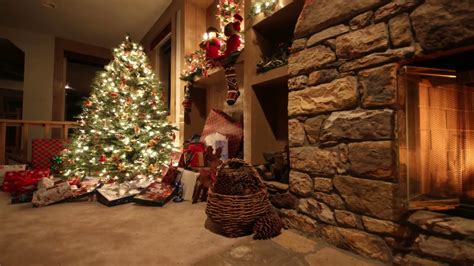 hd moving backgrounds lighted christmas tree youtube