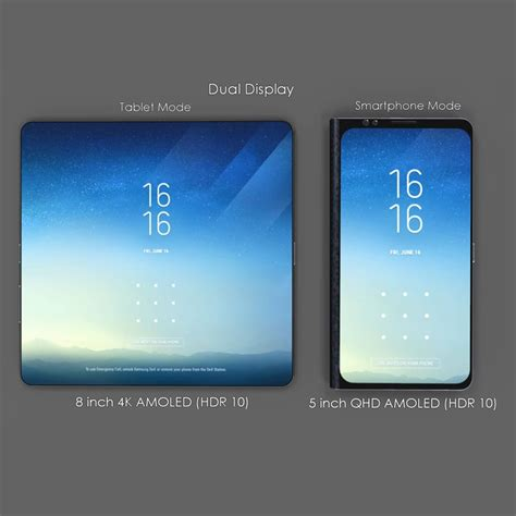 foldable samsung galaxy x has 8 quot 4k amoled display in tablet mode techeblog